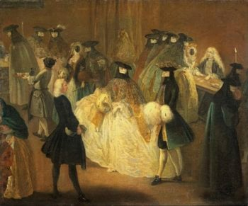 The bench play (Il ridotto). 1720 - 1790 | Pietro Longhi | oil painting