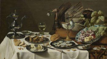 Still Life with a Turkey Pie. 1627 | Pieter Claesz. | oil painting