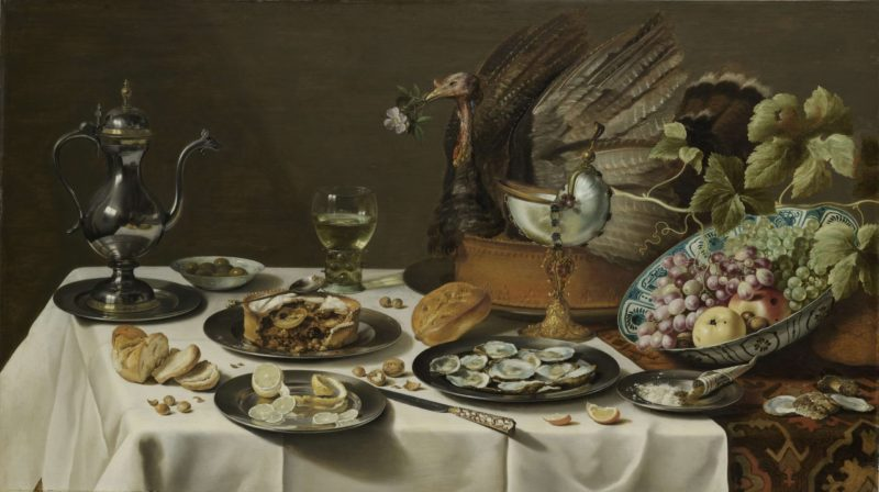 Still Life with a Turkey Pie. 1627 | Pieter Claesz. | oil painting