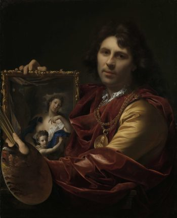 Self-portrait with the Portrait of his Wife