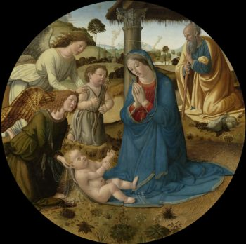The Adoration of the Christ Child. ca. 1485 - ca. 1507   Cosimo Rosselli   oil painting