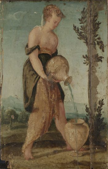 Woman with pitcher. 1540 - 1570 | Lambert Sustris | oil painting