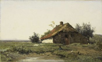 Farmhouse in open field. 1860 - 1903 | Paul Joseph Constantin Gabri?l | oil painting