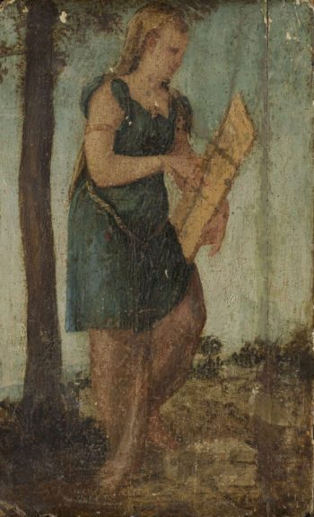 Woman with shield. 1540 - 1570 | Lambert Sustris | oil painting