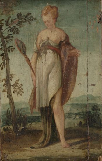 Woman with mirror. 1540 - 1570 | Lambert Sustris | oil painting