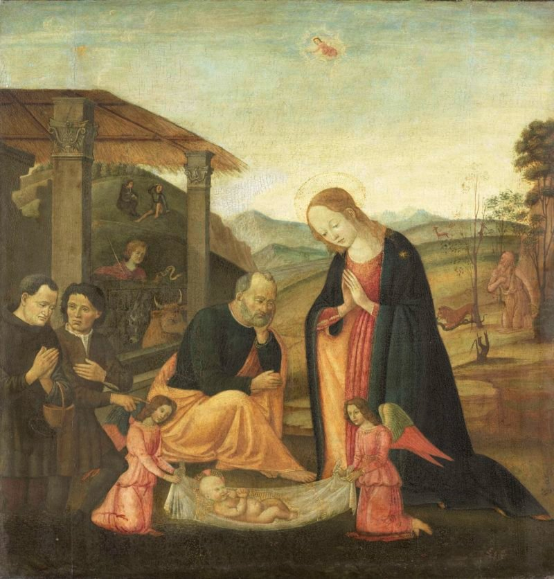 The Adoration of the Child. 1485 - 1520 | Jacopo del Sellaio | oil painting