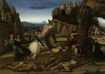 Saint George and the dragon. 1495 - 1505 | Luca Signorelli | oil painting