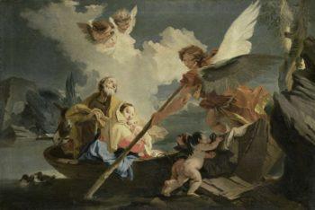The Flight into Egypt. 1750 - 1810 | Giovanni Battista Tiepolo | oil painting