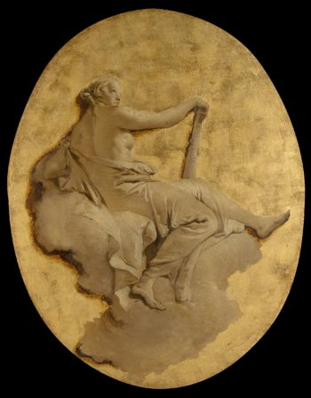 Allegorical Figure of a Woman with a Club (Fortitude?). ca. 1740 - 1750 | Giovanni Battista Tiepolo | oil painting