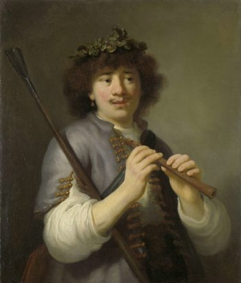 Rembrandt as Shepherd with Staff and Flute. 1636 | Govert Flinck | oil painting