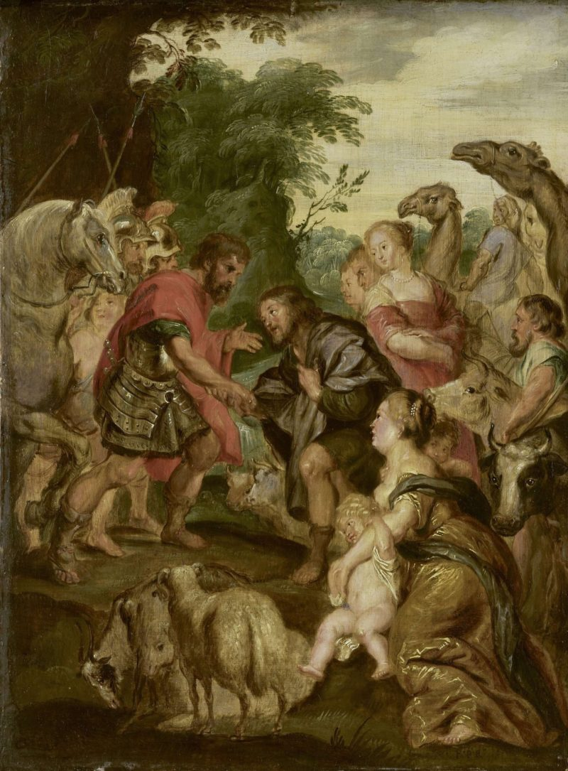 The Reconciliation of Jacob and Esau. 1600 - 1699 | Peter Paul Rubens | oil painting