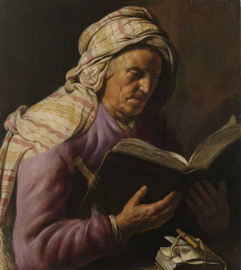 Old Woman Reading. 1626 - 1633   Jan Lievens   oil painting