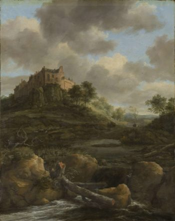 Bentheim Castle. 1650 - 1682 | Jacob Isaacksz. van Ruisdael | oil painting