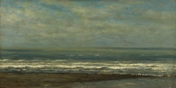 Seascape at Heijst. ca. 1868 | Willem Roelofs (I) | oil painting
