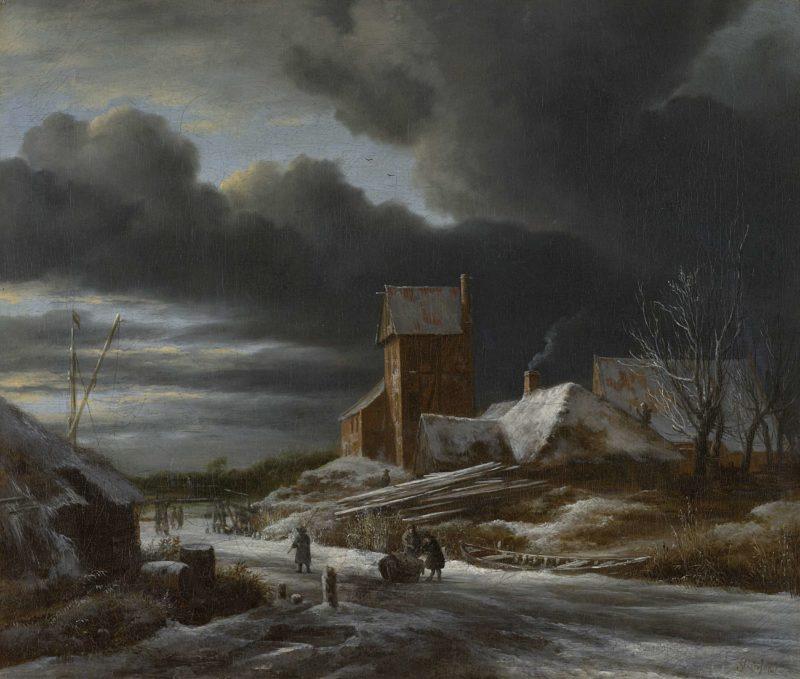 Winter Landscape. ca. 1665 | Jacob Isaacksz. van Ruisdael | oil painting