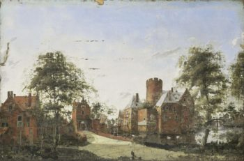Castle Loenersloot the Angstel. 1650 - 1750 | Jan van der Heyden | oil painting