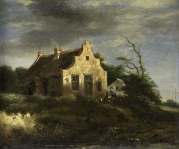 Farmhouse in wooded dunes. 1650 - 1750 | Jacob Isaacksz. van Ruisdael | oil painting
