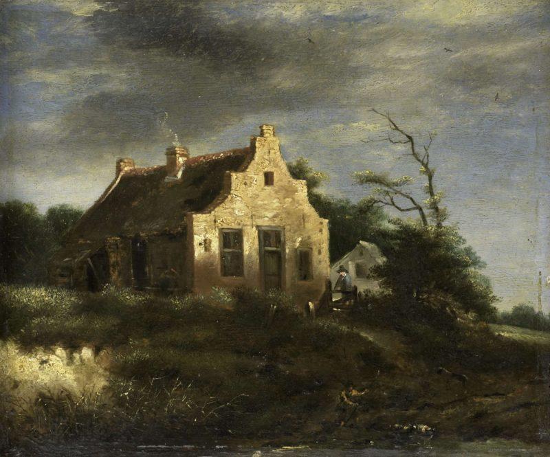 Farmhouse in wooded dunes. 1650 - 1750   Jacob Isaacksz. van Ruisdael   oil painting
