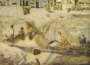 Zandafgraving in Amsterdam. 1891 | Richard Roland Holst | oil painting