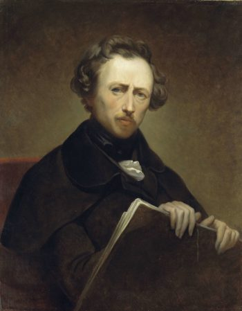 Self Portrait at the age of 43. ca. 1838   Ary Scheffer   oil painting