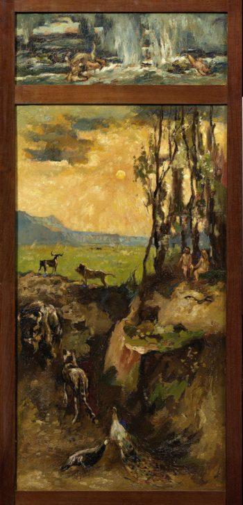 Adam and Eve in paradise. 1900 - 1931 | Willem de Zwart | oil painting
