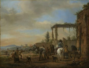 The Riding School. ca. 1660 | Philips Wouwerman | oil painting
