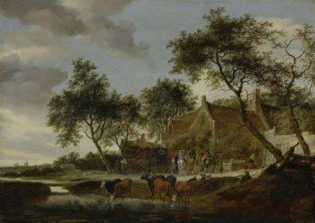 Pleisterplaats. 1660   Salomon van Ruysdael   oil painting