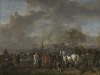 The victory of the farmers. 1650 - 1668 | Philips Wouwerman | oil painting