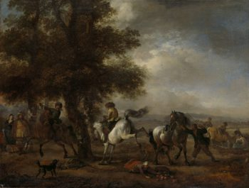 The French fungus. 1650 - 1668 | Philips Wouwerman | oil painting