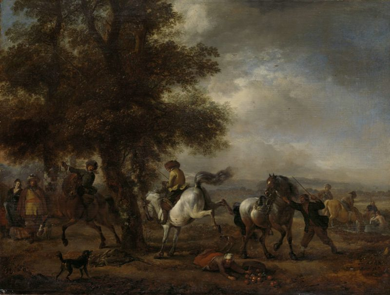 The French fungus. 1650 - 1668   Philips Wouwerman   oil painting