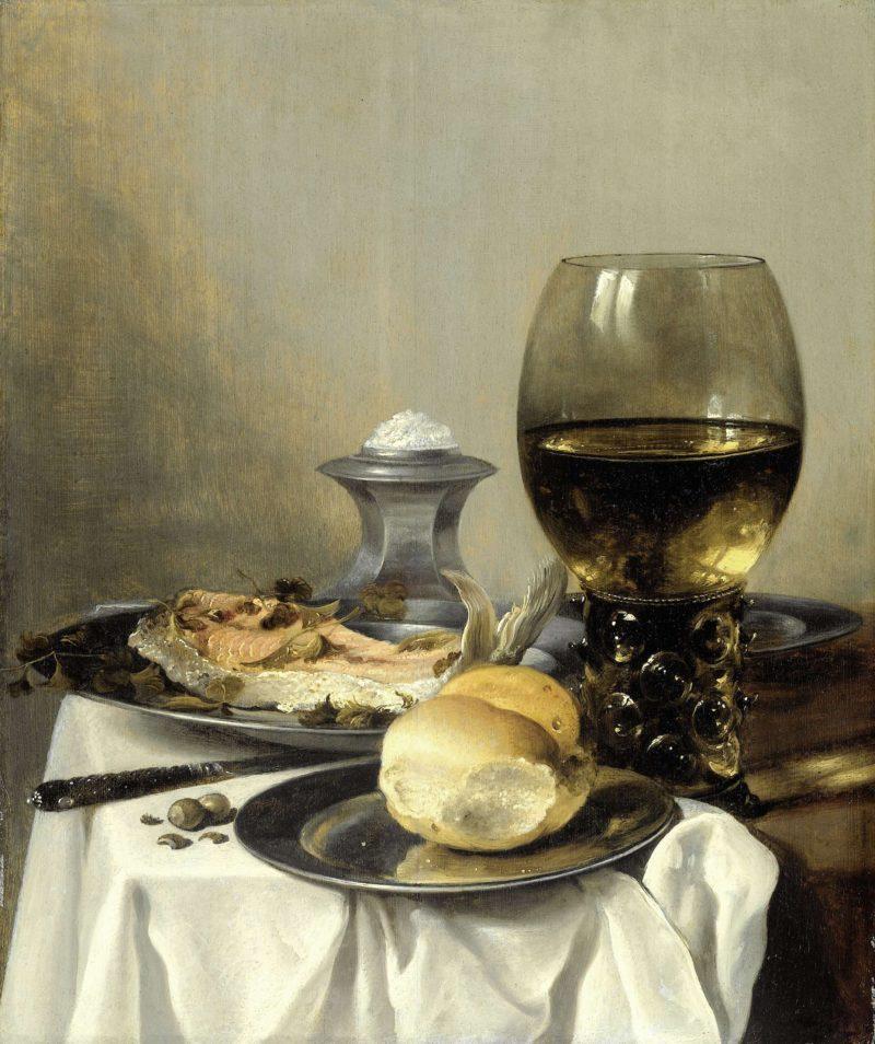 Still Life with a saltshaker. ca. 1640 - ca. 1645 | Pieter Claesz. | oil painting