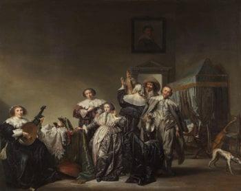 Gallant Company. 1633 | Pieter Codde | oil painting