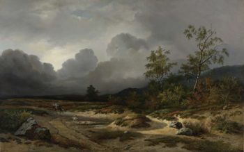 Landscape with a Thunder Storm Brewing. 1850 | Willem Roelofs (I) | oil painting