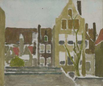 Group of houses. ca. 1880 - ca. 1923 | George Hendrik Breitner | oil painting