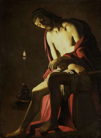 Christ on the cold stone. after c. 1614 | Gerard van Honthorst | oil painting