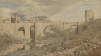 Bridge at Toledo. 1903 | Marius Bauer | oil painting