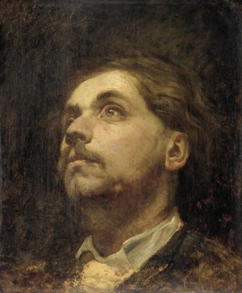 Portrait of Jacob Maris. 1857 | Matthijs Maris | oil painting