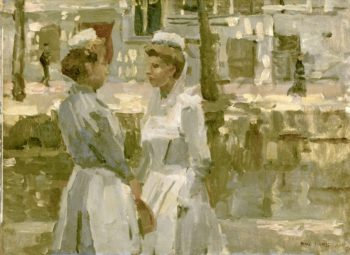 Amsterdam maids. ca. 1890 - ca. 1900 | Isaac Israels | oil painting