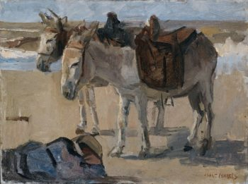 Two donkeys. 1897 - 1901 | Isaac Israels | oil painting