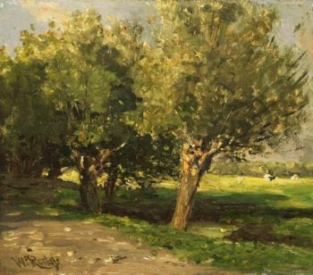 Willow Trees. 1875 - 1885 | Willem Roelofs (I) | oil painting