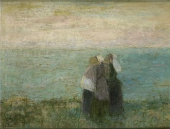 Women at sea. 1885 - 1897 | Jan Toorop | oil painting