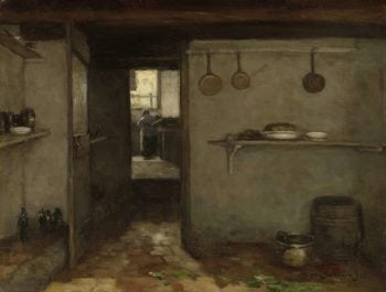 Cellar of the Artist's Home in The Hague. 1888 | Johan Hendrik Weissenbruch | oil painting