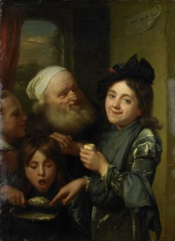 Each to his own. 1670 - 1675 | Godfried Schalcken | oil painting