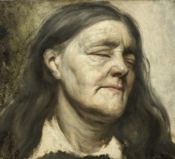 Study of an old woman. 1855 - 1858 | Matthijs Maris | oil painting