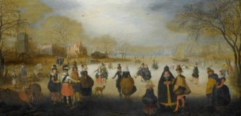 Winter Landscape with Skaters. ca. 1615 - ca. 1620 | Adam van Breen | oil painting