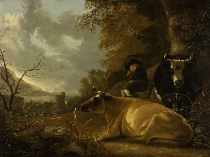 Landscape with cows and shepherd boy. 1650 - 1670 | Aelbert Cuyp | oil painting