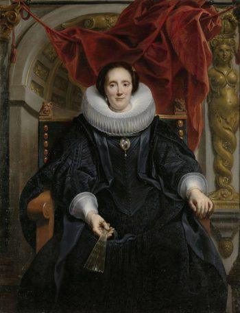 Portrait of Catherine Behaghel. 1635   Jacob Jordaens (I)   oil painting
