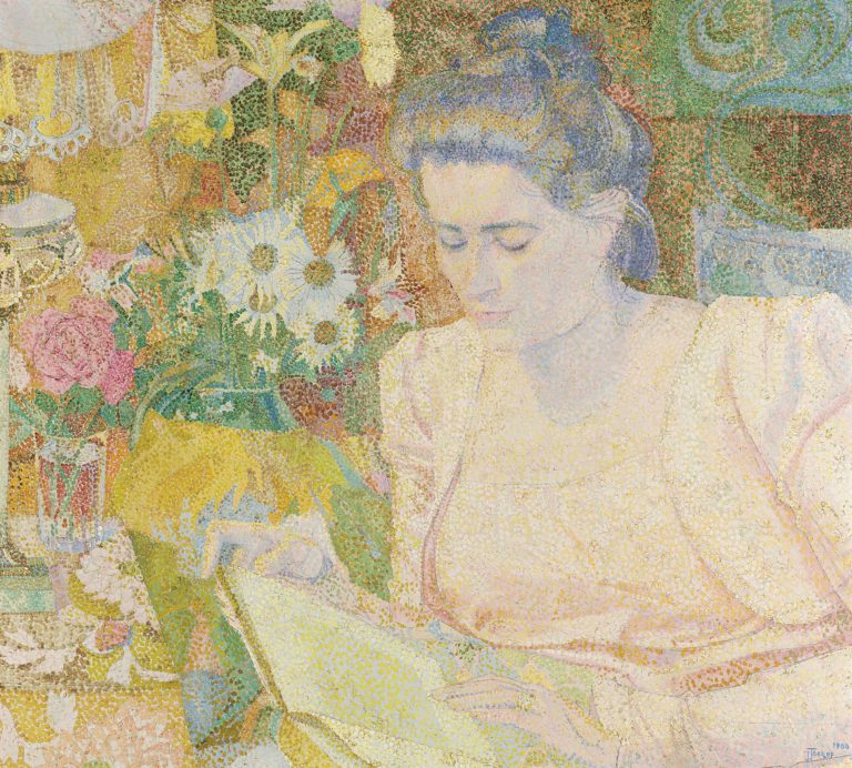 Portrait of Marie Jeanette de Lange. 1900 | Jan Toorop | oil painting