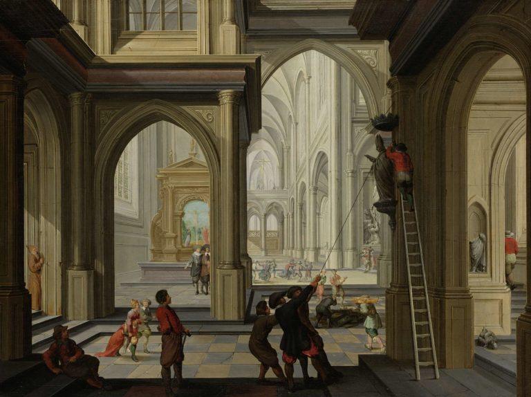 Iconoclasm in a Church. 1630 | Dirck van Delen | oil painting