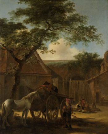 Barnyard.. 1630 - 1670 | Jan Both | oil painting